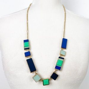 Kate Spade Necklace Blue & Green Rectangle G68